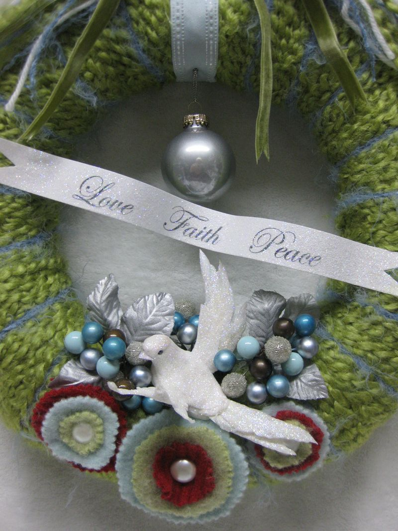Custom doll dove wreath 042